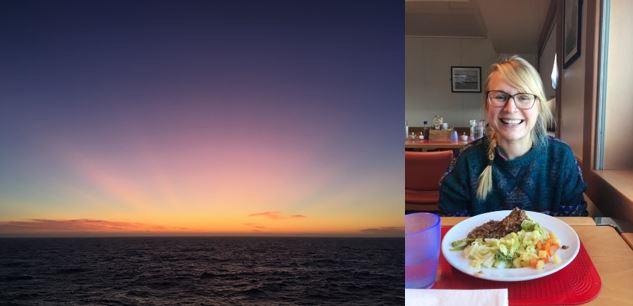 Beautiful sunset and lovely food!